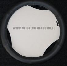 Pokrowiec na kierownicę skórzany czarny 35-37cm ,37-39cm ,39-41cm