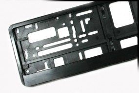 Ramka czarna pod tablice rejestracyjne, czarna ramka