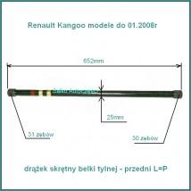 drążek skrętny tylnej belki 652mm (przedni) Renault Kangoo