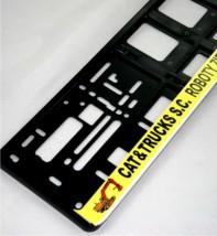 Ramki pod tablice z własnym napisem/reklamą Dowolny Nadruk