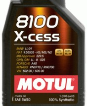 Olej silnikowy syntetyczny X-Cess 8100 5w40 5 litrów