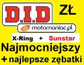 Najmocniejszy zestaw napędowy DID + Sunstar ZVMX lub VX