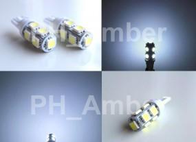 Żarówka samochodowa postojowa T10 W5W LED 9xSMD 5050
