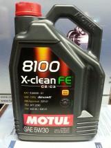 Olej Motul 8100 5W30 5L. X-CLEAN FE