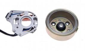 Stator + koło magnesowe 2 cewki 4T