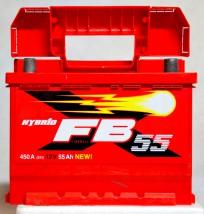 Akumulator samochodowy 55 Ah 450A FB Prawy Plus