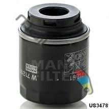 Filtr oleju Mann-Filter W712/91 Seat, Volkswagen