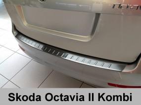 Nakładka ochronna na zderzak tylny Skoda Octavia 2 Kombi